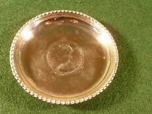 1901 One Rupee India Silver Coin Pin Dish Victoria Empress 3 25 Inch