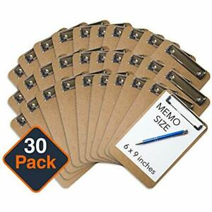 Mini Clipboard 6 X 9 set Of 30 Memo Small Eco Friendly Clipboards Pack Low