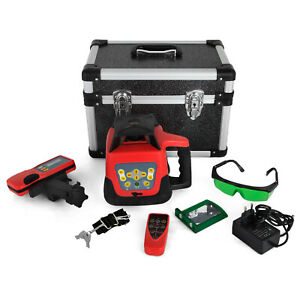 Auto Self leveling Horizontal Cross Line Rotary Laser Level Kit 500m W case