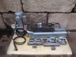 Parker 632 Hydraulic Tube Bender Greenlee Pump With 5 Dies Great Shape