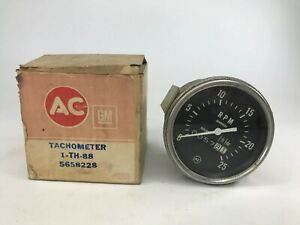 Vintage Ac Th88 5658228 Tachometer W Hour Meter 2500 Rpm Comes With Box