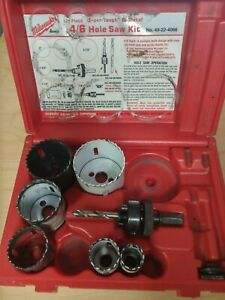Milwaukee 49 22 4066 4 6 Hole Saw Kit Super tough Bi metal missing Some Pieces