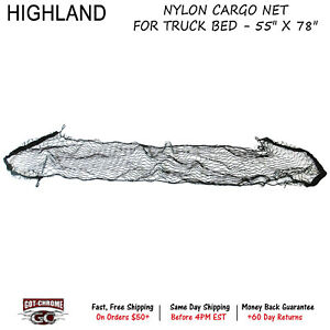 9500600 Highland Exterior Nylon Cargo Net For Truck Bed 55 X 78