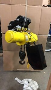 Budgit 2 Ton Electric Chain Hoist Beh0208 Speed 8fpm V 230 460 3 6 hp 1 30m n