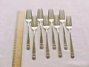 8 Salad Forks 1847 Rogers Bros Silver Plate Eternally Yours