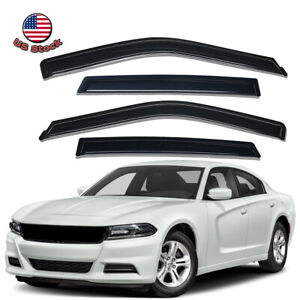 Acrylic Window Visors Sun Rain Guards Vent Shade Fit For 2011 2021 Dodge Charger