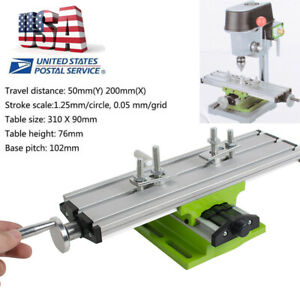 Us Milling Compound Cross Sliding Bench Drill X Y axis Adjustment Working Table