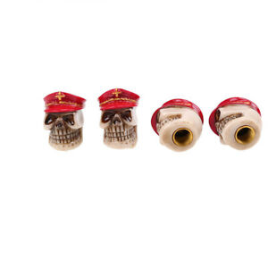 Auto Red Skull Wheel Tyre Tire Stem Air Valve Cap For Jeep Vehicle Accessories