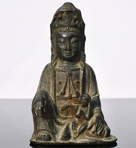 Ming Dynasty Gilt Lacquered Bronze Songzi Guanyin Buddha