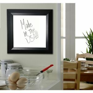 American Made Rayne Solid Black Angle Dry Erase Board Black