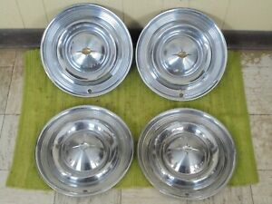 1957 Oldsmobile Hubcaps 14 Set Of 4 Wheel Covers 57 Olds Hub Caps