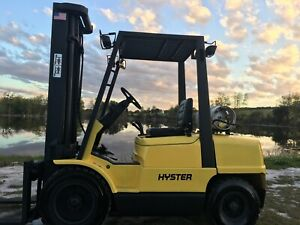 Forklift Pneumatic Hyster H60xm 6 000 Lbs