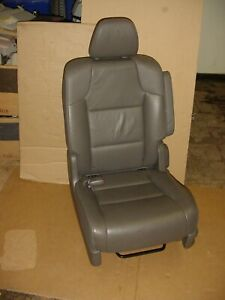 11 12 13 Honda Odyssey 2nd Row Left Driver Seat Truffle Med Grey Leather
