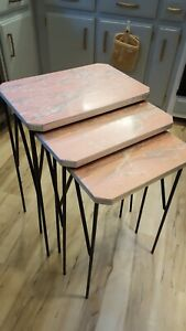 1950s Mid Century Stack Tables