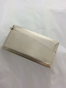 Vintage Hm Silver Gilt Engine Turned Relief Robert Pringle Son Card Case 1930