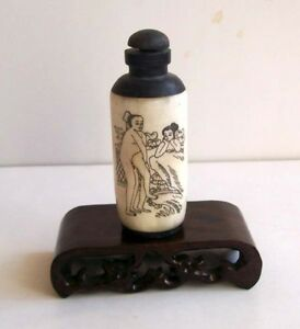Chinese Tradition Bone Chungong Sex Culture Snuff Bottle 03