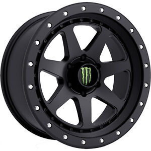 Monster Energy 540b 17x8 5 6x135 0mm Black Wheels Rims 540b 7856300