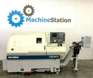 Okuma Crown L1060 762s bb Cnc Turning Center Lathe Big Bore Osp Mori Sl