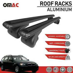 Roof Rack Cross Bars Luggage Carrier Black For Bmw 3 Series 335i 2007 2010
