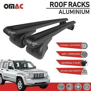 Roof Rack Cross Bars Luggage Carrier Black For Jeep Liberty Kk 2008 2012