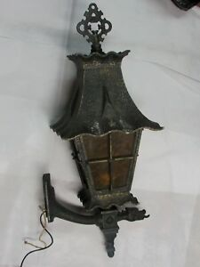 Antique Metal Vintage Gothic Large Wall Sconce Porch Light