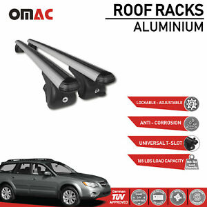 Roof Rack Cross Bars Rails Carrier Silver For Subaru Impreza Outback 2004 2009