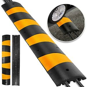 6ft Modular Rubber Speed Bumps Electric Parking Lot Traffic Control Sturdy