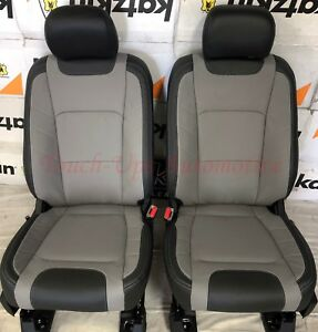 2019 20 Ford F 150 Xlt Supercrew Katzkin Leather Seat Covers Limited Black Gray