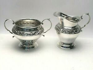 Melrose By Gorham Creamer Sugar Sterling Silver 1213 Really Nice