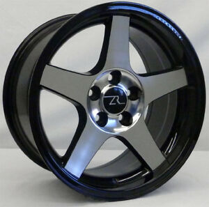 17 Black Cnc Face 03 Cobra Deep Dish Wheels 17x9 17x10 5 5x114 3 94 04 Mustang