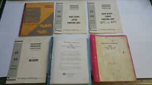 Miehle Offset Printing Press Manuals
