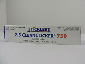 Microcare Fiber Optic Connector Clicker Cleaner 750 Sticklers Twin Pack Refill