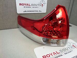Toyota Sienna 11 14 Left Rear Outer Tail Light Lamp Genuine Oem le Xle Std
