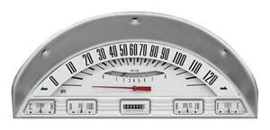 Classic Instruments 1956 Ford F 100 Truck Gauge Panel Cluster Dash Bezel white