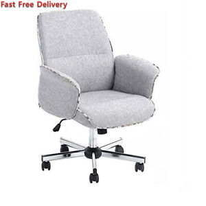 Homy Casa Home Office Chair Upholstered Desk Fabric Executive