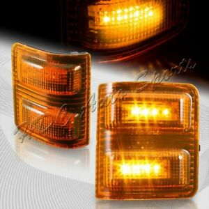 For 2008 2016 Ford Super Duty Amber Side Mirror Amber Led Running Signal Lights