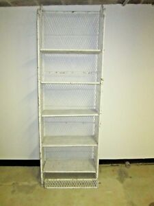 Vntg Wicker Bookshelf Mid Century Wall Unit Bookcase Shelf Boho Chic Needs Tlc