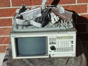 Hp agilent 1661a 102 channel 100 Mhz State Logic Analyzer With Pod Cables And On