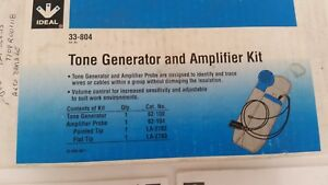 Ideal 33 804 Tone Generator And Amplifier Kit For Electrician Maintenance Sh