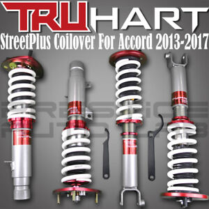 Truhart Streetplus Adjustable Coilovers W Front Camber For 2013 17 Honda Accord