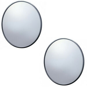 Pair 2 1947 1972 Chevy Truck 5 Round Side Mirrors Smooth Style Chrome Housing