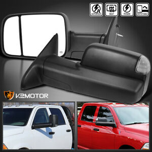 Auto Fold 2009 2012 Dodge Ram 1500 Power heated Led Signal Puddle Tow Mirrors