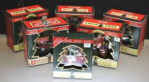 NEW - VINTAGE LOT OF (6) COCA COLA TRIM A TREE CHRISTMAS ORNAMENTS COLLECTIBLES