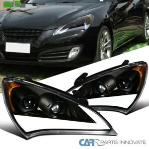 10 12 For Genesis Coupe Black Led Drl Sequential Signal Projector Headlights