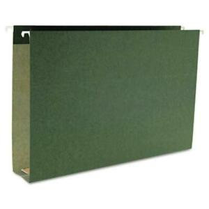 Smead 2 Cap Box Bottom Hanging File Folders Green