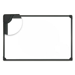 Universal One Design Series Magnetic Steel Dry Erase Board 48 X 36 White Black