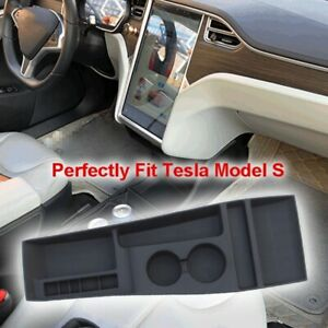 Silicone Storage Console Container Center Cup Glasses Holder For Tesla Model S