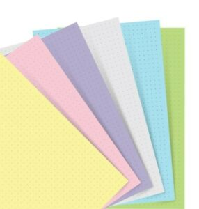 Filofax A5 Pastel Dotted Paper Refill For Notebook