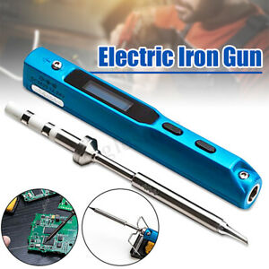Adjustable Electric Temperature Gun Welding Soldering Iron Tool Solder Tip Us