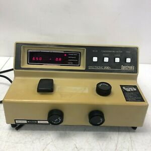 Spectronic Instruments 20d Spectrophotometer Model 333183 Tested Working Usa